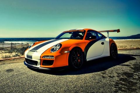 Orange Porsche 911 para LG E400 Optimus L3