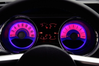 Retro Neon Speedometer Background for Android, iPhone and iPad