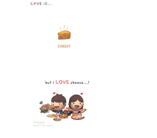 Love Is Cheesy Picture for LG KP105