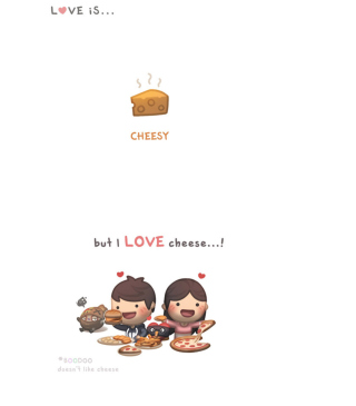 Kostenloses Love Is Cheesy Wallpaper für 352x416