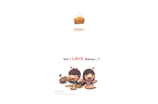 Love Is Cheesy Wallpaper for Android, iPhone and iPad