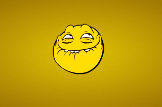 Yellow Trollface Smile Background for Android, iPhone and iPad