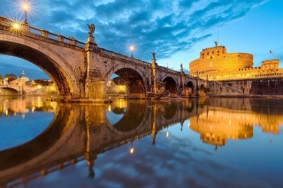 St Angelo Bridge sfondi gratuiti per Samsung S5570i Galaxy Pop Plus