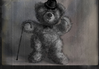 Teddy Bear Gentleman Picture for Android, iPhone and iPad