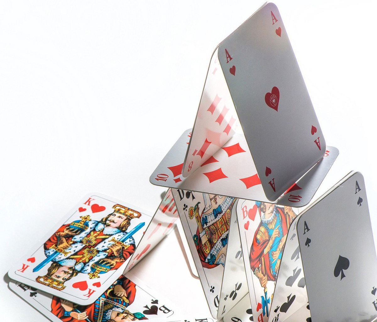 Das Deck of playing cards Wallpaper 1200x1024