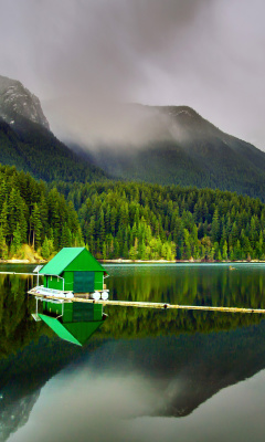 Screenshot №1 pro téma Capilano Lake in North Vancouver 240x400