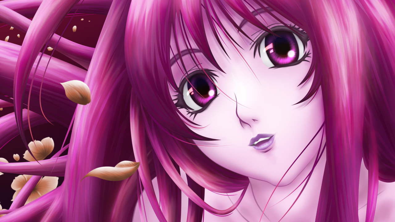 Das Pink Anime Girl Wallpaper 1280x720