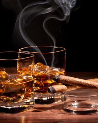 Whisky & Cigar Wallpaper for Nokia C1-01