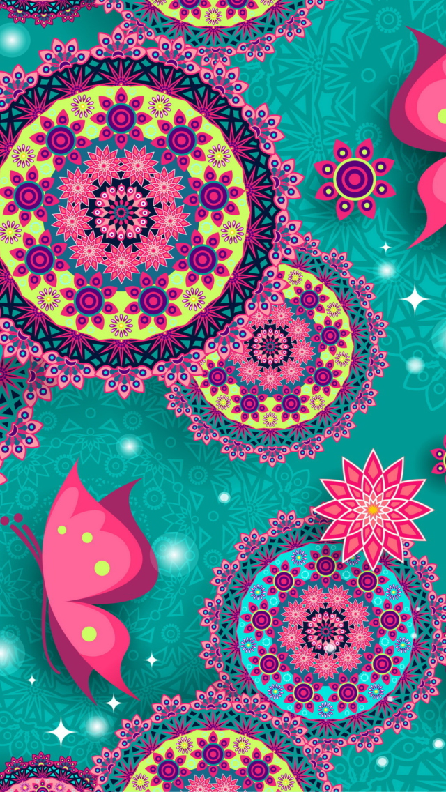 vintage pattern wallpaper for iphone 5