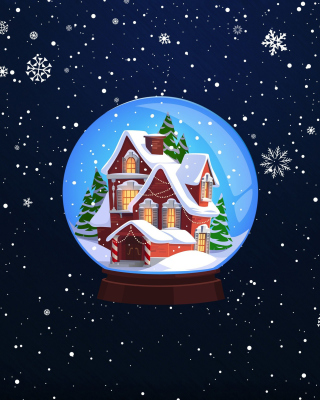 Christmas Souvenir Wallpaper for Nokia Asha 306