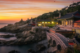 Haedong Yonggungsa, Temple in Busan, South Korea Background for Android, iPhone and iPad