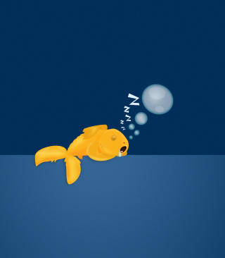 Sleepy Goldfish Wallpaper for Nokia C2-03