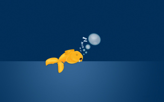Sleepy Goldfish Wallpaper for Android, iPhone and iPad
