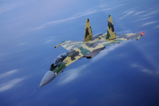 Sukhoi Su 35 Background for Android, iPhone and iPad