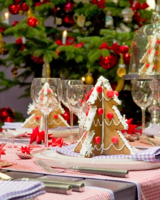 Christmas Table Decorations Ideas sfondi gratuiti per iPhone 6