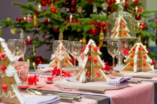 Christmas Table Decorations Ideas Background for Android, iPhone and iPad