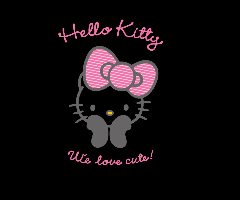 Screenshot №1 pro téma Black Hello Kitty 960x800