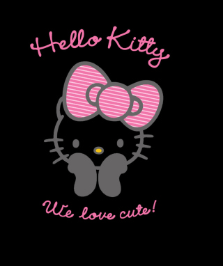 Black Hello Kitty Wallpaper for Nokia Asha 306