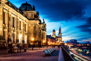 Altstadt, Dresden, Germany Background for Android, iPhone and iPad
