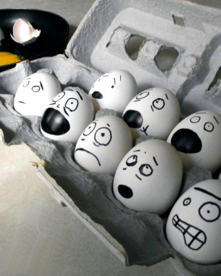Funny Eggs Wallpaper for Nokia Asha 306
