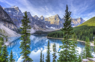 Lake in National Park Background for Android, iPhone and iPad