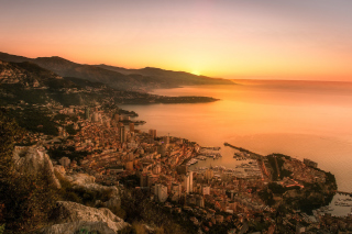 Monaco Panoramic Photo Wallpaper for Samsung Galaxy S5