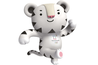 2018 Winter Olympics Pyeongchang Mascot Background for HTC One X+