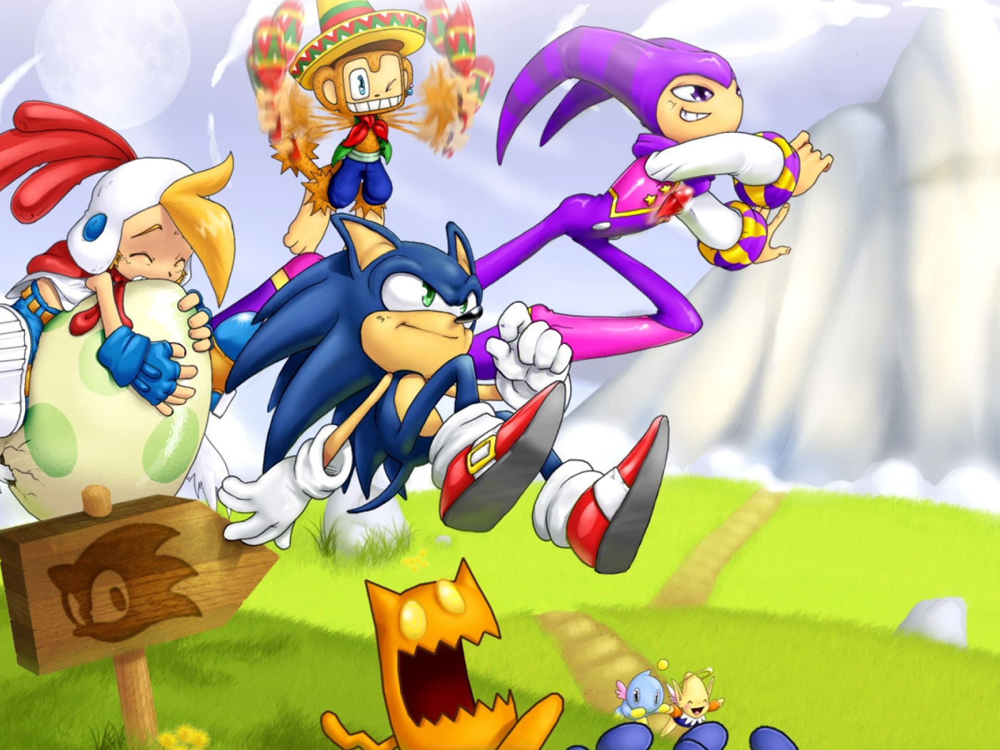 Screenshot №1 pro téma Sonic the Hedgehog 1400x1050