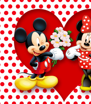 Mickey And Minnie Mouse sfondi gratuiti per iPhone 6 Plus