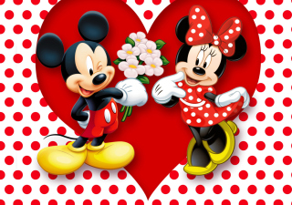 Mickey And Minnie Mouse Background for 1280x1024