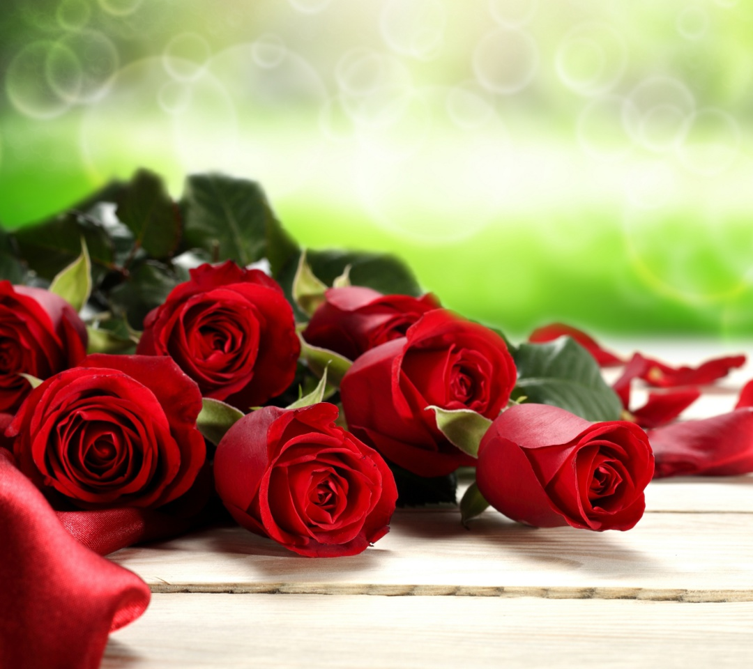 Screenshot №1 pro téma Red Roses for Valentines Day 1080x960