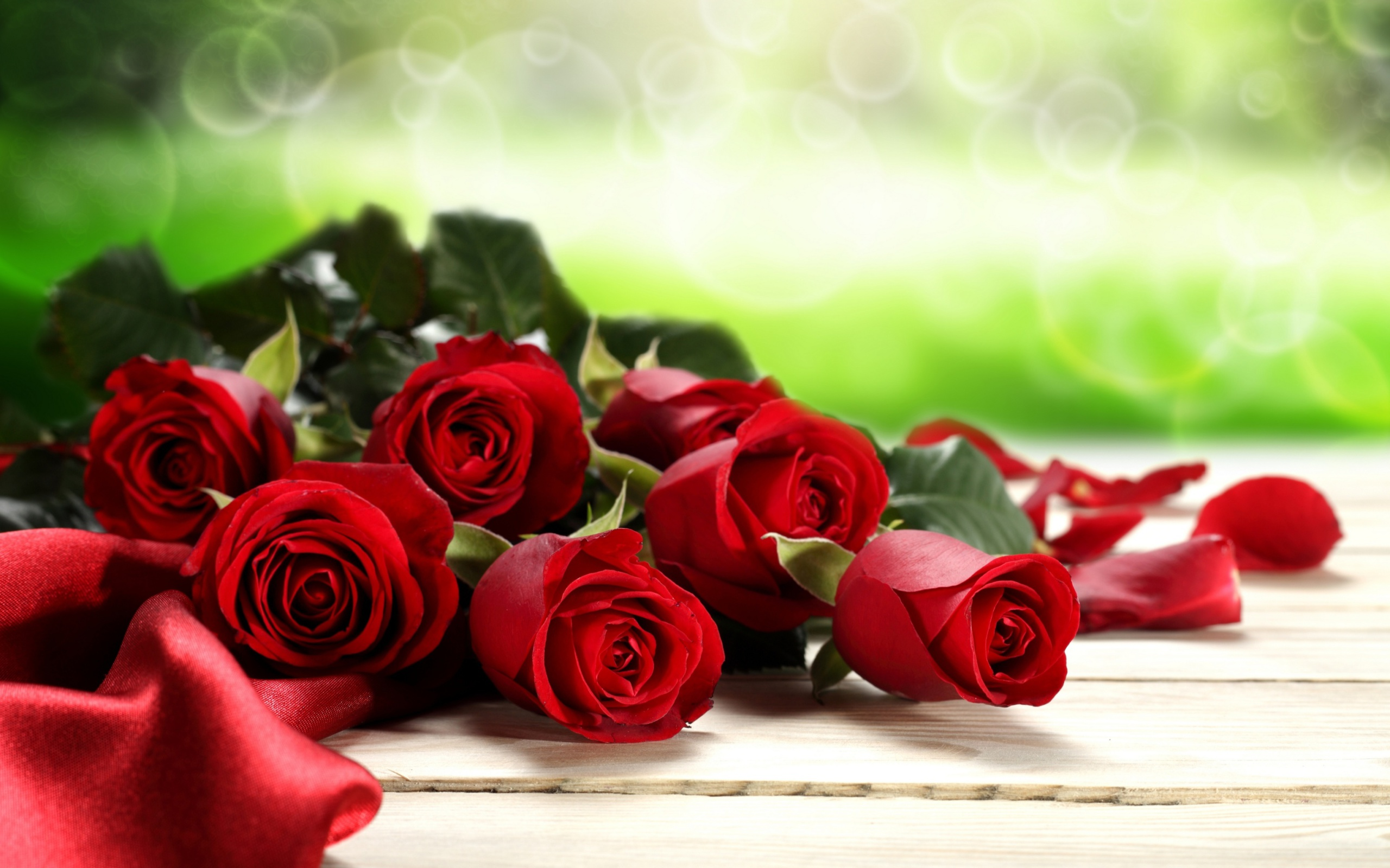 Red Roses for Valentines Day wallpaper 2560x1600