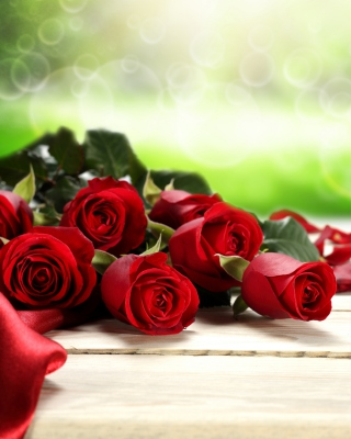 Red Roses for Valentines Day sfondi gratuiti per iPhone 6