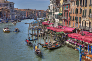 Venice Canals Painting sfondi gratuiti per cellulari Android, iPhone, iPad e desktop