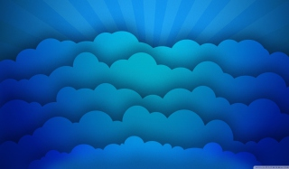 Blue Clouds Wallpaper for Android, iPhone and iPad