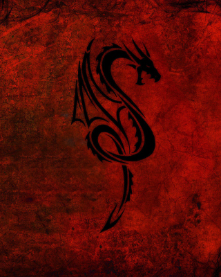 Tribal Dragon Background for Nokia Asha 310