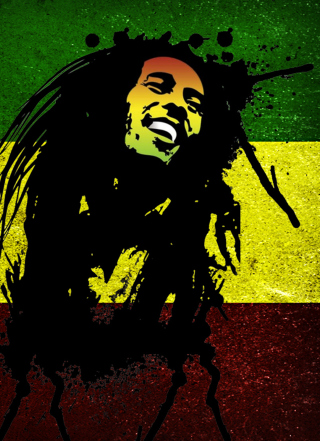 Bob Marley Rasta Reggae Culture Wallpaper for Nokia Asha 300