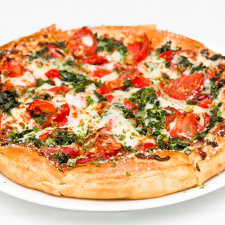 Pizza with spinach sfondi gratuiti per iPad mini