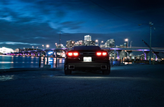 Chevrolet Camaro In Night Wallpaper for Android, iPhone and iPad