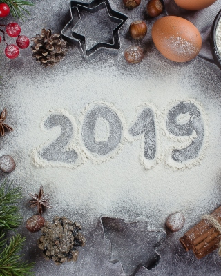 New Year Decor 2019 sfondi gratuiti per Nokia 808 PureView
