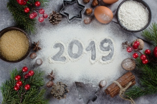 New Year Decor 2019 Background for 1920x1408