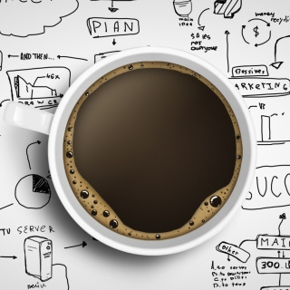 Kostenloses Coffee and Motivation Board Wallpaper für iPad 3