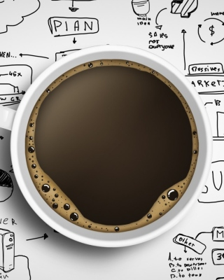 Coffee and Motivation Board - Obrázkek zdarma pro 320x480