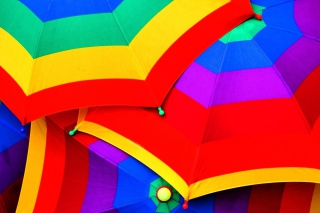 Colourful Umbrella Wallpaper for Android, iPhone and iPad