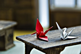 Paper Origami Bird Wallpaper for Android, iPhone and iPad