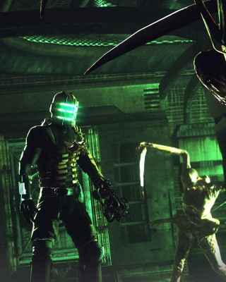Isaac Clarke in Dead Space battle Necromorphs sfondi gratuiti per iPhone 5