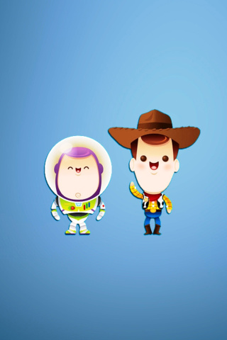 Screenshot №1 pro téma Buzz and Woody in Toy Story 320x480