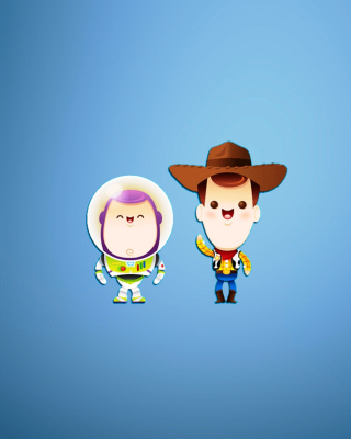 Buzz and Woody in Toy Story sfondi gratuiti per 352x416
