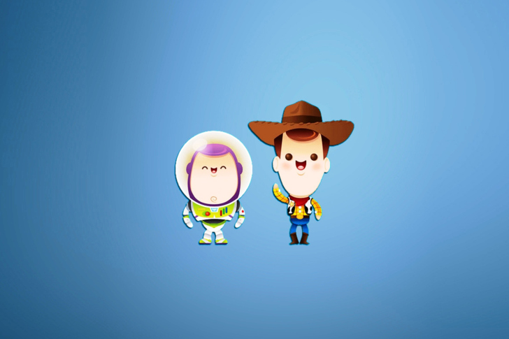 Buzz and Woody in Toy Story wallpaper