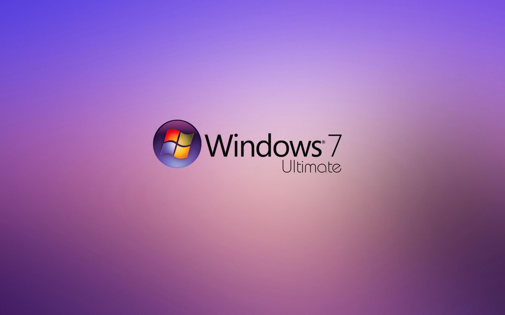 картинка Windows 7 Ultimate на Widescreen рабочего стола Pc